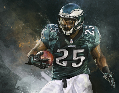 Lesean McCoy - An Illustrated Print