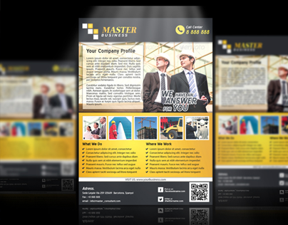 Multi-Purpose Modern Flyer Template For Business - 1