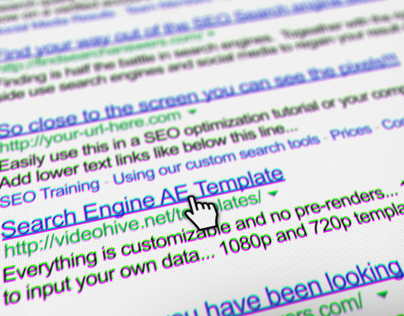 Internet Search Engine Screen Close-Up