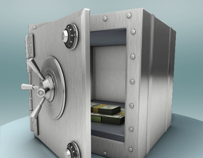 A safe place for your money - 3d project