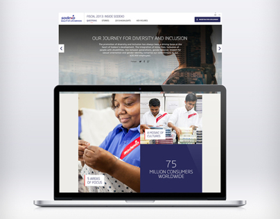 Sodexo Annual Report - Web Design