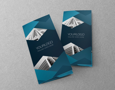 Blue Architecture Trifold