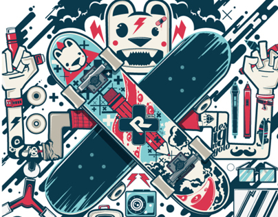 design + skate / illustration