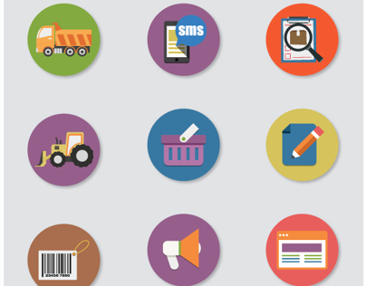 69 Flat Icons Set - Business and Web Services Icon