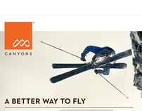 Canyons Ski Resort Airport Poster & Web Campaign