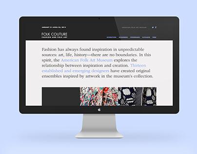Folk Couture Microsite