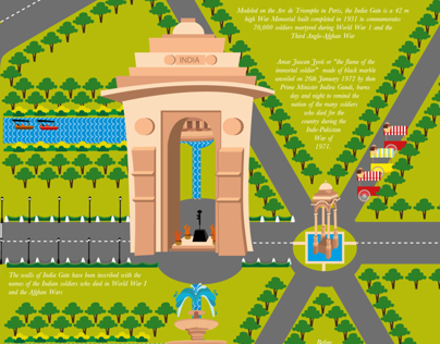 A Map to Delhi's Imperial Zone - Rajpath