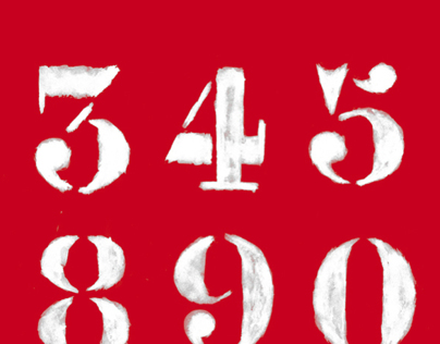 Hand drawn numbers