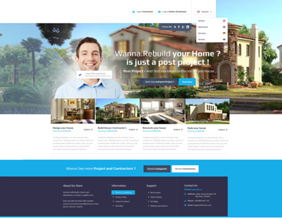 House Design / Rebuild  Web Design