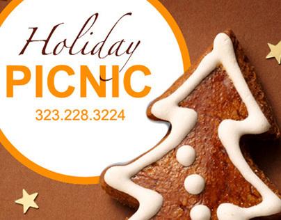 Digital Holiday Promo - PICNIC LA catering service