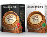 "Design of package ""Domestic wine"""