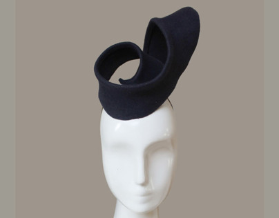 Architectural Hat in Black Felt
