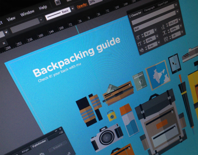 Print design : Backpacking guide
