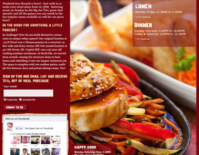 The box bar&Grill Web design