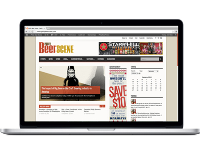 PhillyBeerScene Magazine website redesign