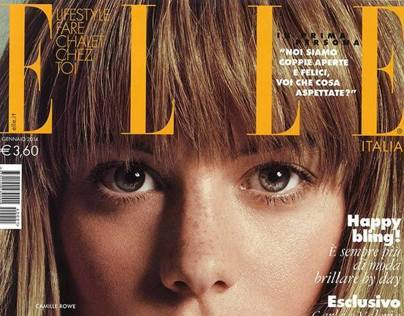 Our CAMILLE looking AMAZING on the cover of ELLE ITALIA