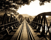 The river kwai Bridge (kanchanaburi) Thailand