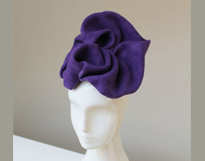 Architectural Hat in Purple Felt