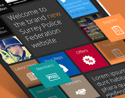 Surrey Police Federation Responsive Website