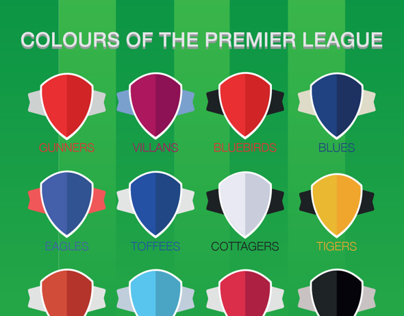Colours of the Premier League