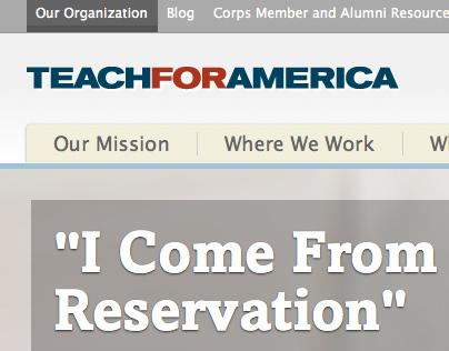 Teach For America Website
