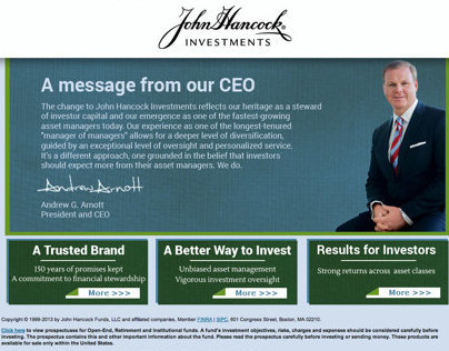 John Hancock Investments micro-site redesign (Spec)
