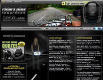 Web Design for COMMbits Inc./Riders Plus Insurance