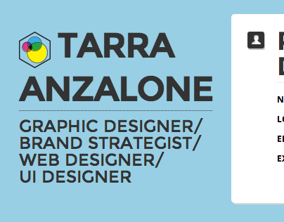 Tarra Resume Website