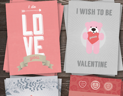 Love You Greeting Card Pack #1