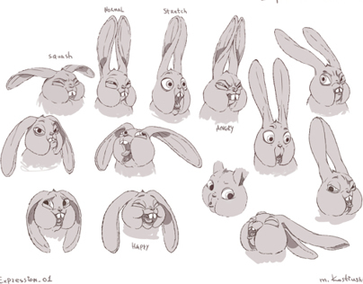 Rabbit. Character design