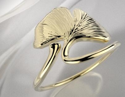 Ginkgo Leaf ring
