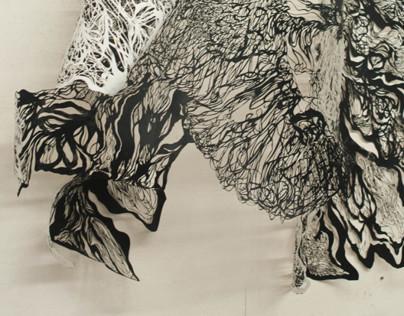 Hand-Cut Paper Creature 3