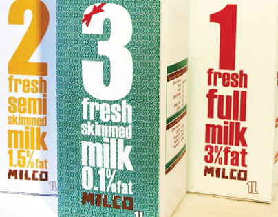 milk package & logo design