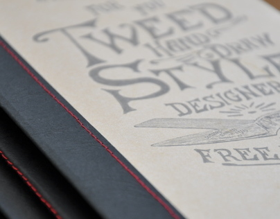hand made BOOK by Tweed style