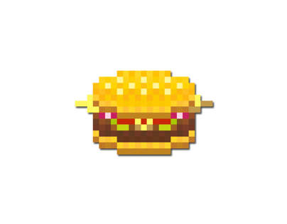 Pixel art (Mcdonald's Cheeseburger)
