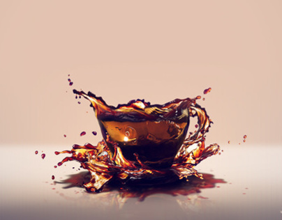 Tea cup splash