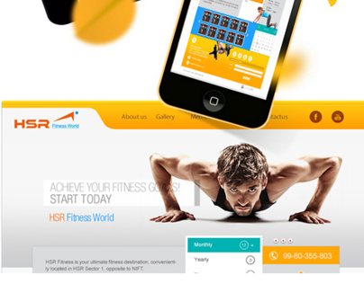HRS Fitness World- UI /UX