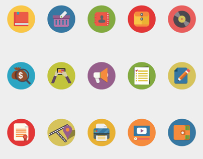 Web Flat Icons Set