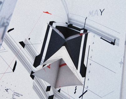 SUPREMATISM CALENDAR pop-up  2014
