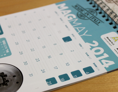 Table Calendars Layout for Alumat & Almax Mori