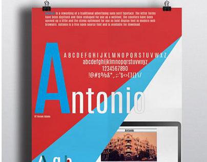 Antonio TypeFace Poster