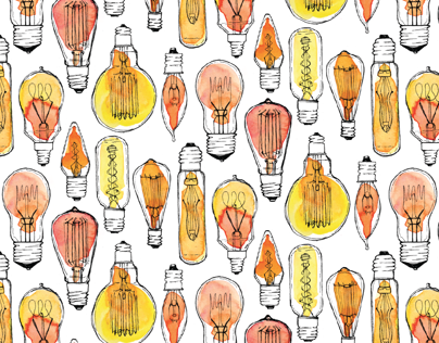 Patterning: Vintage Bulb Repeat