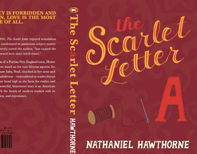 Scarlet Letter Book Cover Design