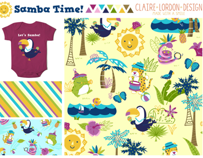 Samba Time! Childrens Pattern