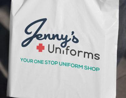 Jenny's Uniforms Rebranding