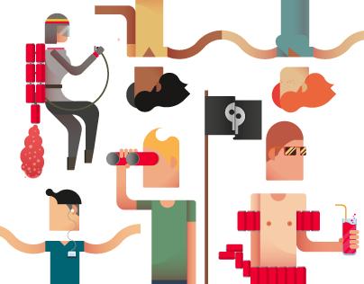 RedBull RE - Design Award || Illustrations, graphic