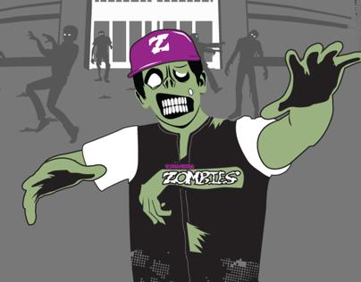2014 Schaumburg Zombies T-shirt Design