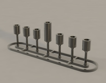 STEEL MENORAH ON SALE