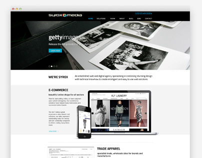 Syrox Emedia website redesign
