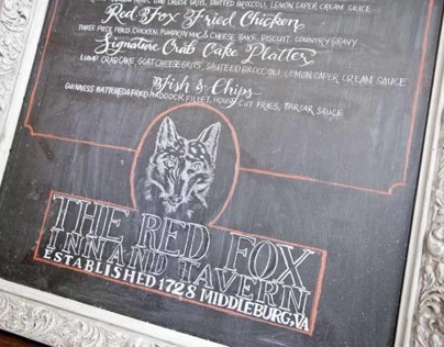 Chalkboard Calligraphy: The Red Fox Inn Lunch Menu